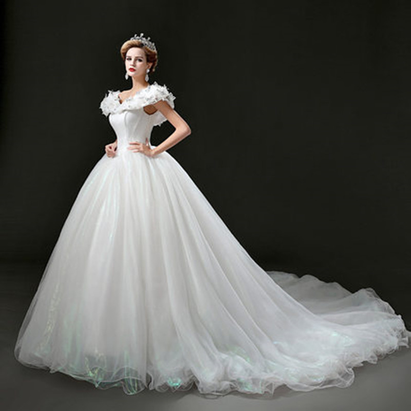 The gallery for cinderella white wedding dress for Cinderella wedding dress up