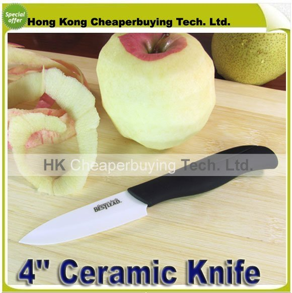 Top Quality Hotsale Bestlead 4'' Curve Handle Fruit Kinves Ceramic Knife Kitchen Knife ,#SKU0116