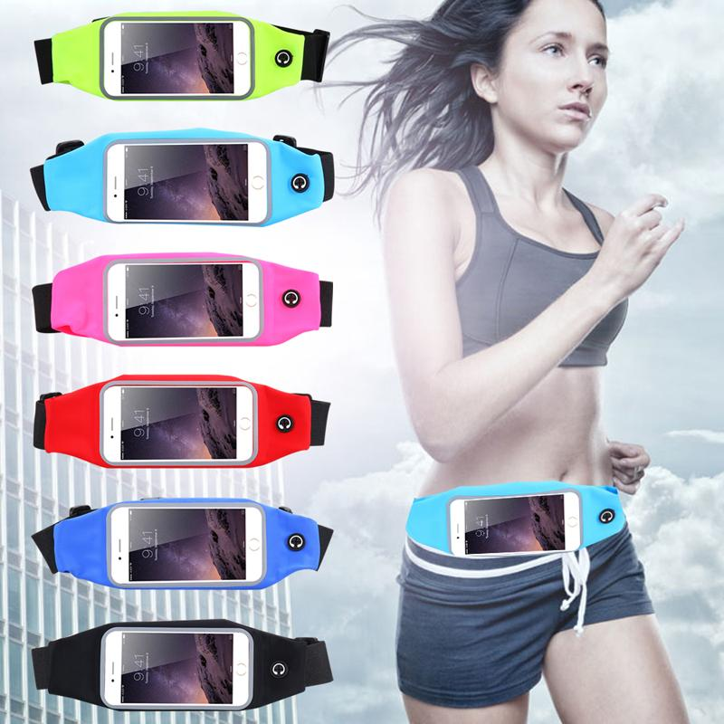 2016 New Sport Gym Waist Bag Wallet Mobile Phone Bag Pouch For iPhone 6 6S 6Plus 6SPlus Outdoor Running Cover Waterproof Case(China (Mainland))