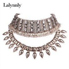 Buy Fashion Necklaces Women Resin Alloy Choker Collars Rhinestone Necklaces&Pendants Vintage Statement Jewelry Accessories N41721 for $8.09 in AliExpress store