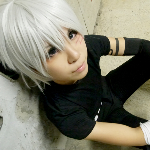 D.Gray-man Allen Walker short silver white cosplay wig(China (Mainland))