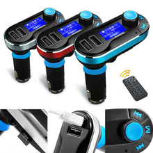 For 2016 Car FM Transmitter MP3 player car wireless FM Transmitter with audio radio  USB SD bluetooth U disk Aux in TF card slot