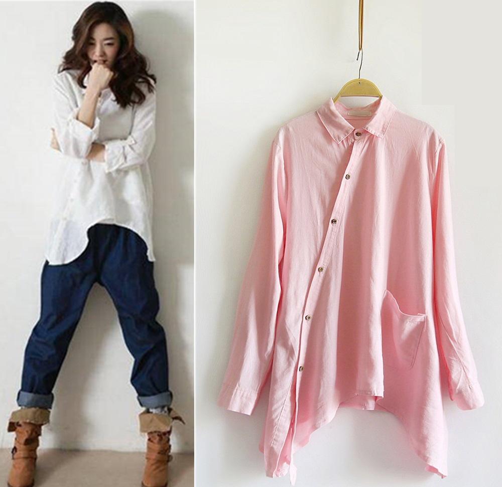 Popular flax linen clothing buy cheap flax linen clothing for Linen women s shirt