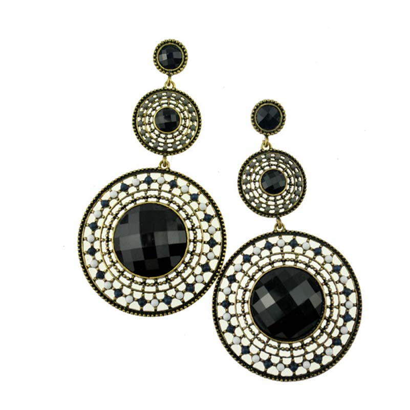 Innovative Black Diamond Earrings For Women Diamond And Black Onyx Earring