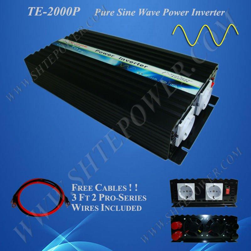 2000W Pure Sine Wave Power Inverter 12V 220V(China (Mainland))