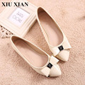 Big Size 34 43 Fashion Women Shoes Beige Pink Pointed Toe Flats Women Solid Slip on