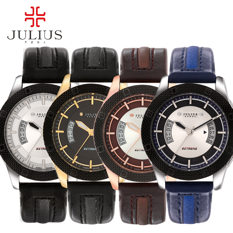 2016 JULIUS Luxury Men Watches Casual Premium Fashion Stylish Calendar Multifuction Sport Bussiness Wirstwatch Relogio Masculino<br><br>Aliexpress
