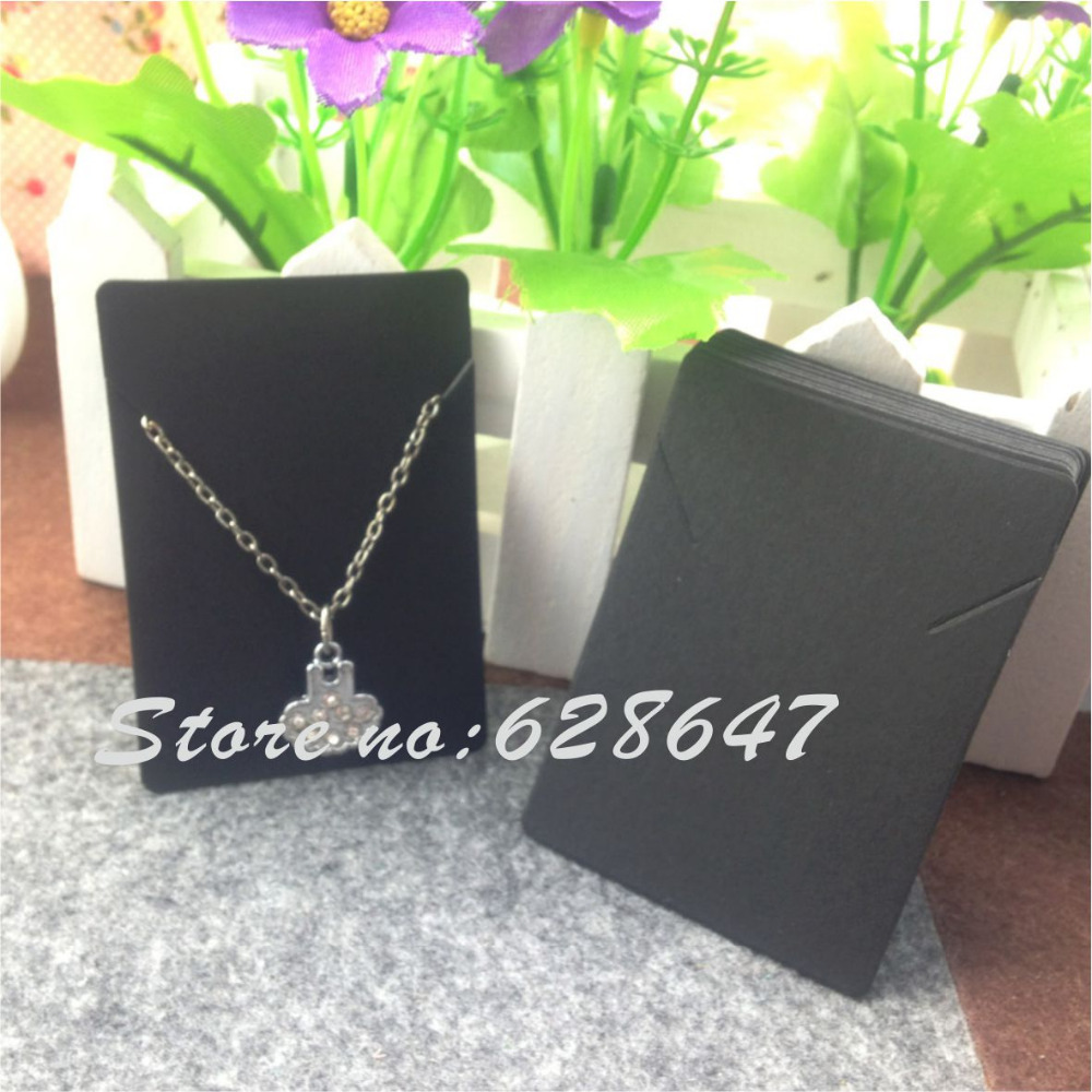 2015 New Hot Blank kraft Necklace Card &DIY necklaces Display Cards ,white and black fashion jewelry card(China (Mainland))