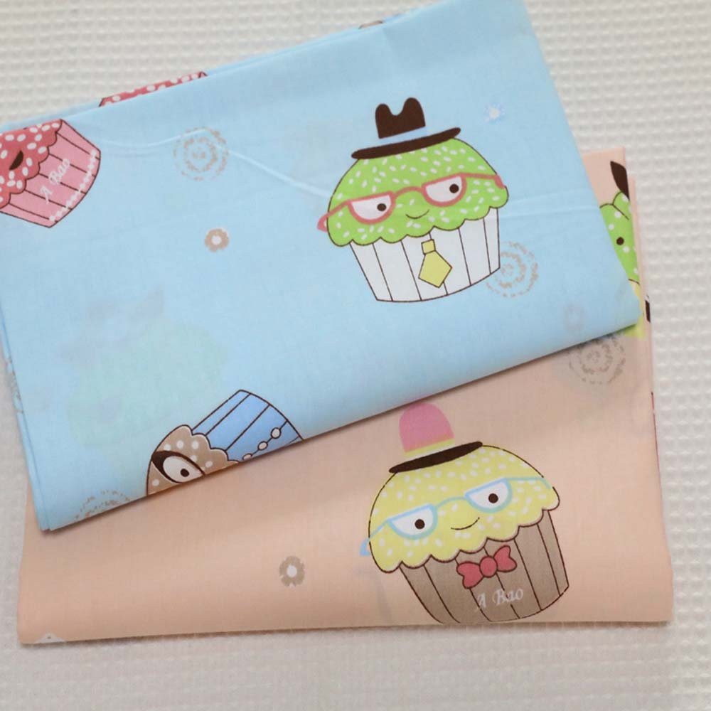 100 160cm cute cartoon cupcake party 100 cotton twill for Fabric for kids clothes