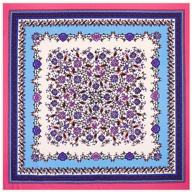 100cm*100cm Twill Silk Women 100% Silk Square Japanese and Korean style Floral Pattern Print Silk Scarf Femal High Quality ShawlОдежда и ак�е��уары<br><br><br>Aliexpress