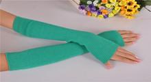 Free shipping women new  winterWool gloves to keep warm gloves knitting false sleeve arm guard(China (Mainland))