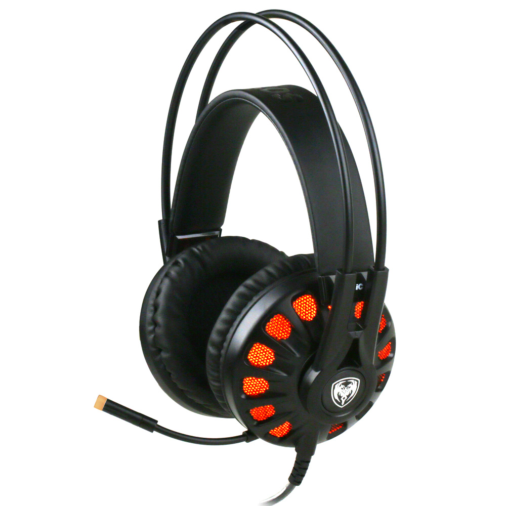 Somic G932 Professional Gaming Headset virtual 7.1 Surround Sound Mic HiFi Over Ear LED Light USB Earphones Headphones for PC(China (Mainland))