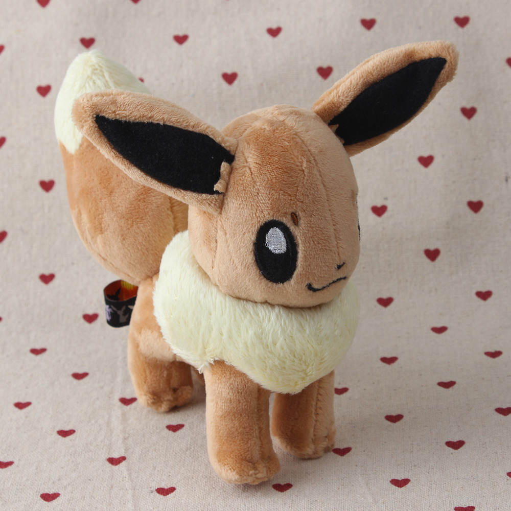 13 cm Peluche Pokemon Eevee  Plush Soft Doll Toy Gift Stuffed Animal Game Collect 66878
