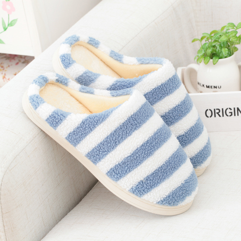 Autumn&Winter Women Slippers Lover Unisex Fashion Warm Cotton Slipper at Home Indoor Shoes Plush Men Bed Room Flat Slippers(China (Mainland))