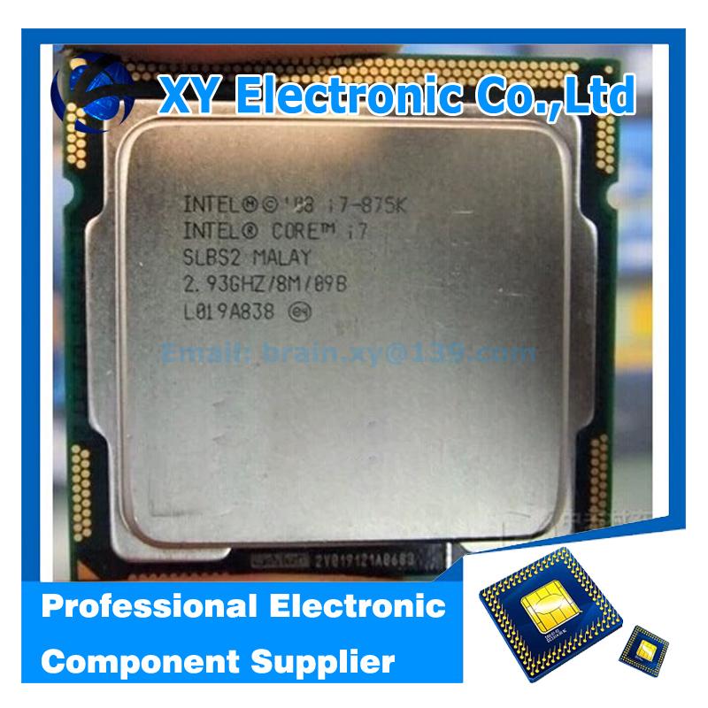 Free shipping Core i7 875K 2.93GHz 8M SLBS2 Quad Core Eight threads desktop processors Computer i7-875K CPU Socket LGA 1156 pin(China (Mainland))