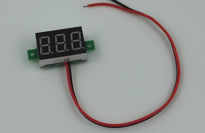 Hot New Hot DC 2.5-30V YELLOW LED Display Digital Voltage Voltmeter Panel Motor Motorcycle   APS0002<br><br>Aliexpress