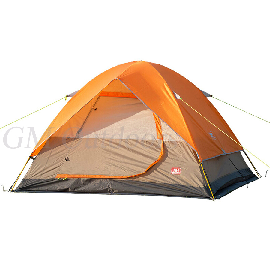 HOT SALE Large Dome Tent For 4 Person Orange Double Layer Easy to Set Up UV Protected For Family BBQ Camping Fishing Outdoor Fun(China (Mainland))