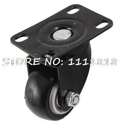 Metal Mounted Plate Rubber Ball Bearing Swivel Type Caster Wheel for Trolley(China (Mainland))