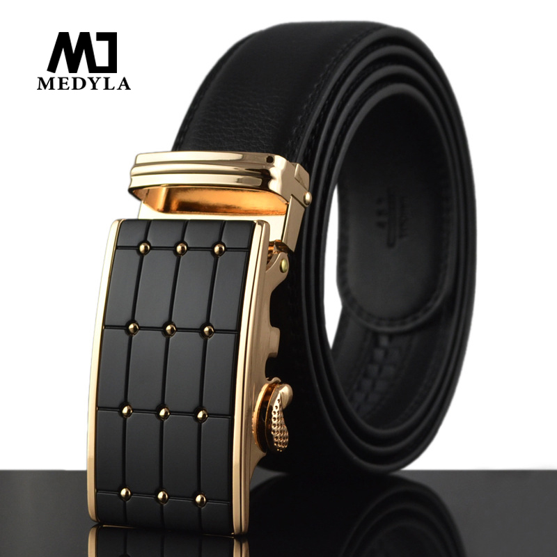 2017 new arrival men automatic buckle brand designer leather belt business belt mens strap high quality and luxury cummerbund(China (Mainland))