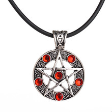 Wholesale Euro-Ameican Jewelry Five Star Logo Pendant Necklace Vintage Ancient Silver Rhinestone Necklace For Women Charms(China (Mainland))