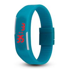 2018 Venta caliente Ultra delgado hombre chica deportes silicona Digital LED reloj de pulsera vida impermeable Dropshipping(China)