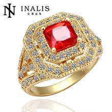 065 WholesaleHigh QualityNickle Free Antiallergic New Fashion Jewelry 18K Real Gold Plated Ring For Women Free Shipping