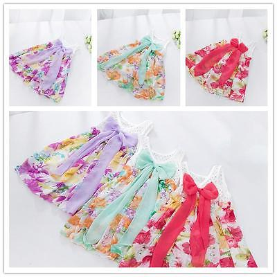 Baby Infant Kids Gilr Sweet Chiffon Floral Flower Wedding Party Skirt Dress Y2-6<br><br>Aliexpress