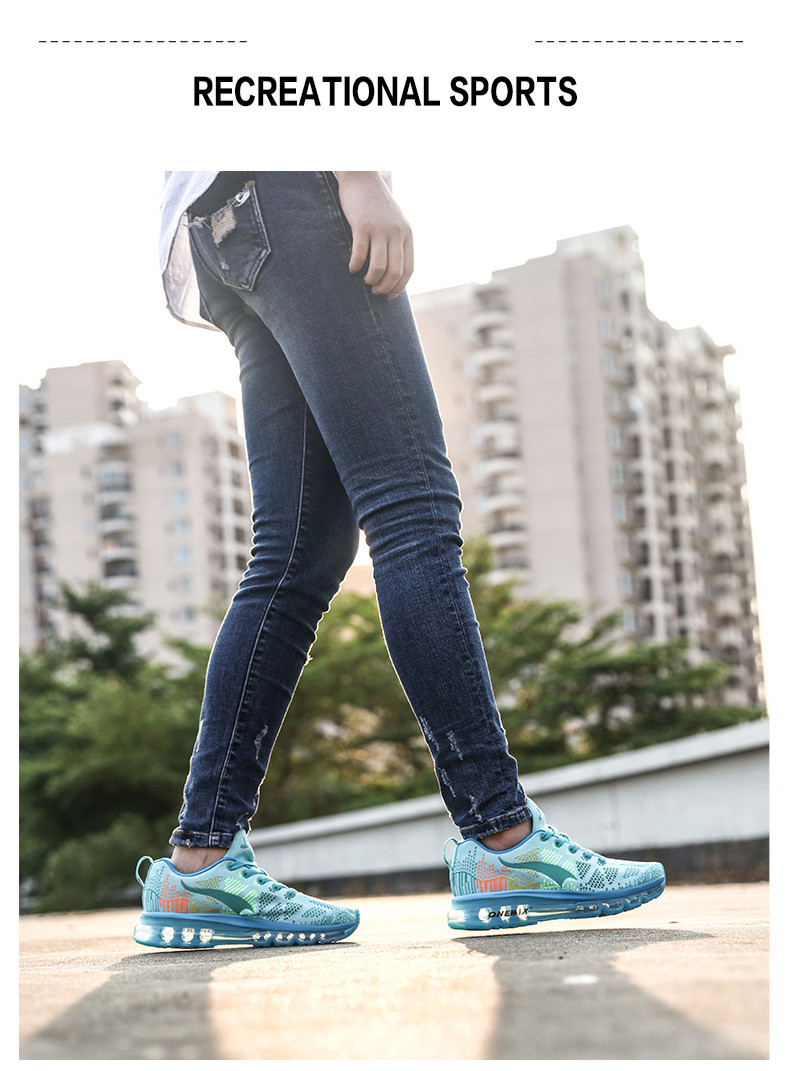 Women Running Shoes Run Athletic Trainers Woman Sky Blue Zapatillas Deportivas Sports Shoe Air Cushion Outdoor Walking Sneakers