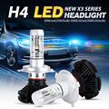 Oslamp CSP Chips Hi Lo Beam H4 LED Headlight Kits Far Near Driving Lighting Car Bulbs