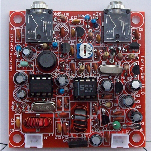 DIY KITS Forty 9er 3W HAM Radio QRP CW HF Radio TRANSCEIVER 7 023MHz Telegraph