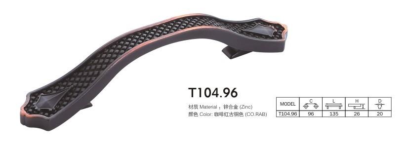 10pcs lot free shipping European style zinc drawer cabinet wardrobe door pull T104-96<br><br>Aliexpress
