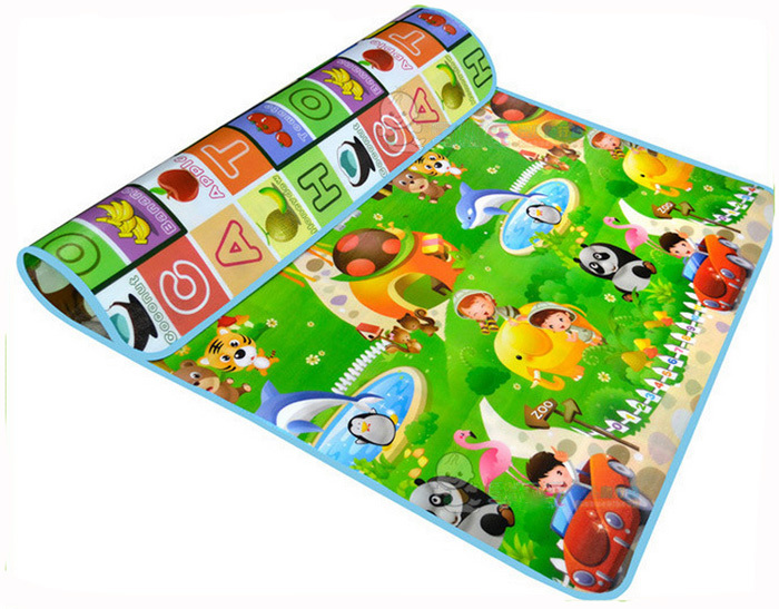 Double-Side Baby Play Mat 1.8*1.5m Fruit Letters Animal Cars Child Beach Picnic Carpet Crawling pad - Eva Shopping Mall store