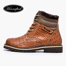 Buy Size 37~50 Handmade Plus Size Warm Cow Split leather men Winter Snow Boots #8815EYP for $50.42 in AliExpress store