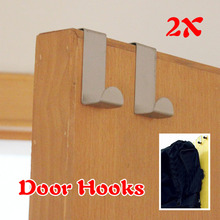 #Cu3 Newest 2Pcs For Kitchen Hanging Hanger Holder Door Hooks Hanging Coat Cloth Strong W(China (Mainland))