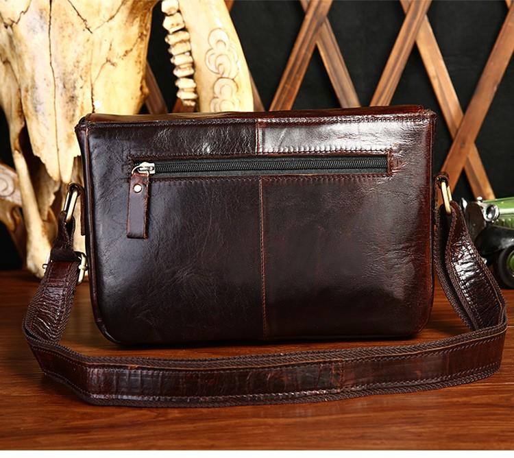 ซื้อ แฟชั่นผู้ชายหนังแท้กระเป๋าMessenger Cowhideหนังชายข้ามร่างกายกระเป๋าลำลองผู้ชายสำนักงานพาณิชย์กระเป๋า# MD-B8752