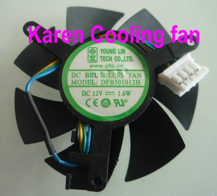 DFB501012H graphics card cooling fan 12v 1.6w dual ball cooling fan<br><br>Aliexpress