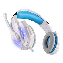 EACH G9000 USB 7.1 Surround Sound Version Game Gaming Headphone Computer Headset Earphone Headband with Microphone LED Light