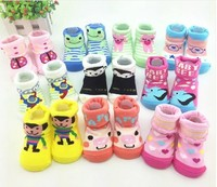 Baby Socks with Cute cartoon Outdoor Shoes Baby Anti-slip Walking Children Sock kid's gift for 0-12 month