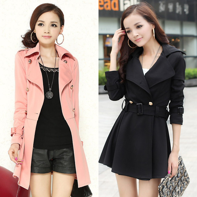 Free shipping 2013 autumn women's all-match fashion elegant slim double breasted trench dress outerwear woolen coat  0220511295