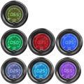 EE support 2 52mm Blue Red 7Color LED Light Tachometer RPM Car Digital Tacho Gauge Smoke