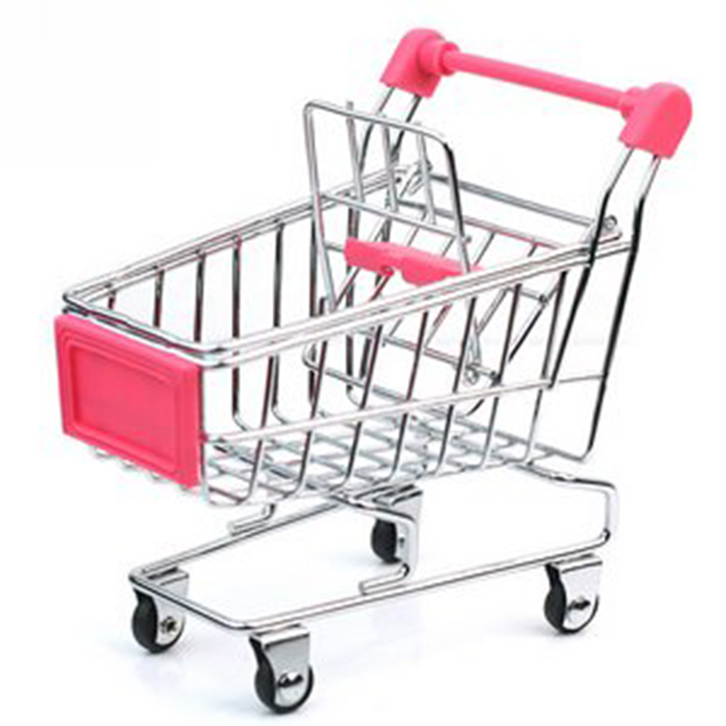 Mini Supermarket Handcart Shopping Utility Cart Mode Storage Toy Creative Novelty Gift Pink Great Toys for Children Gift(China (Mainland))