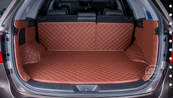 Best quality! Special trunk mats for KIA Sorento 5seats 2014 durable waterproof leather carpets for Sorento 2013,Free shipping