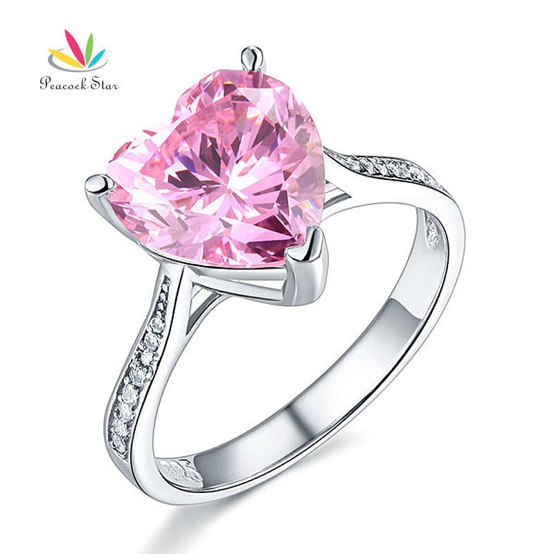 Aliexpress Buy 3 5 Carat Heart Fancy Pink Created Diamond Wedding Promi