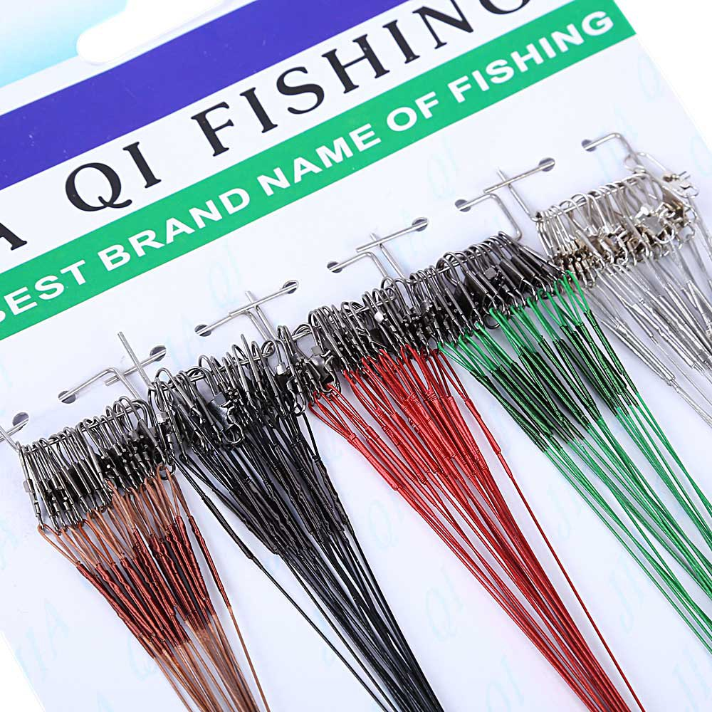 Hotsale 100pcs/lot Fishing Trace Lures Silver Steel Leader Fishing Line Wire Spinner Barrel Swivel 16 / 18 / 21 / 23 / 28cm(China (Mainland))