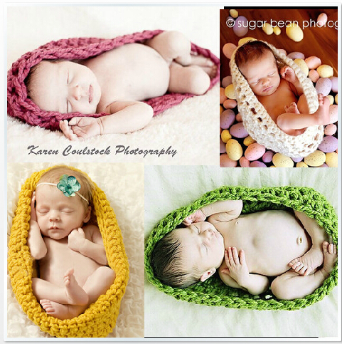Newborn baby boy manual grass skirt sleeping bag fashion photography props crochet knitting caps hats 0 6 months - danda store