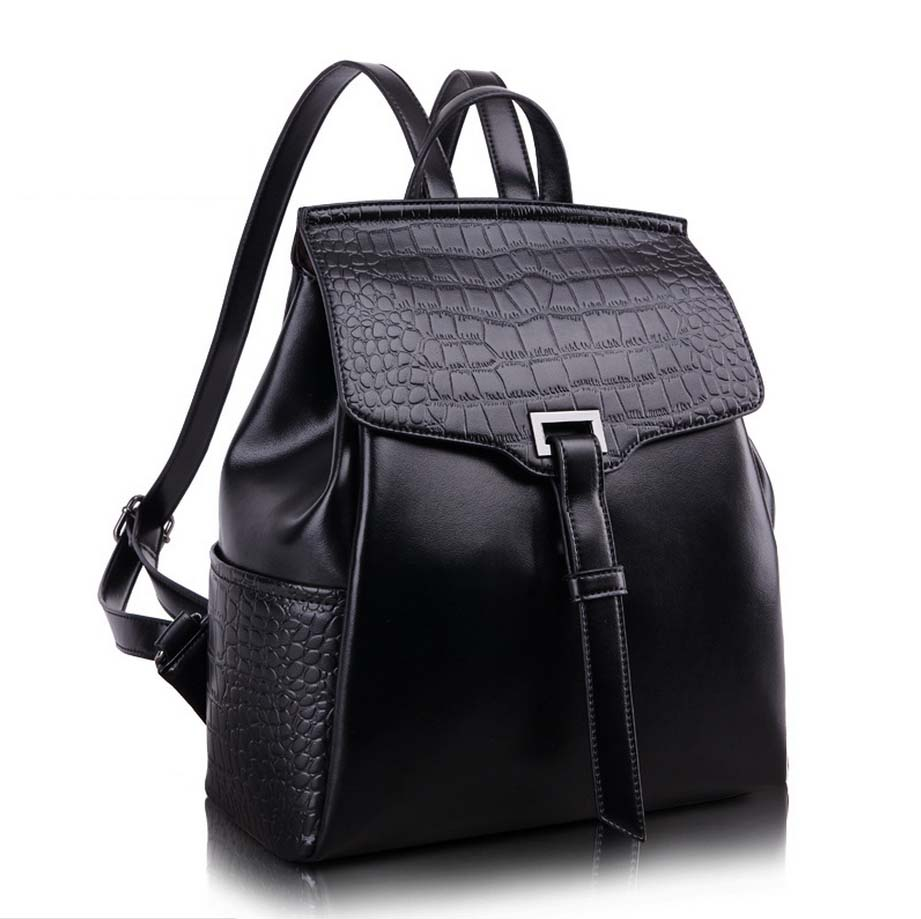 backpack Women 2015 Leather School Bag High Quality Women's Travel Backpacks Outdoor Small Female Leather Backpack Bag(China (Mainland))