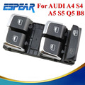 Chrome Driver Side Electric Master Window Control Button Switches For AUDI A4 S4 Q5 B8 Allroad