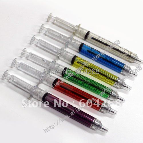 Free shipping New syringe pen/Ball pen/ Fashion pen,ballpoint pen,ball pen,gift ball pen,Toy pens,one pen for a opp bag