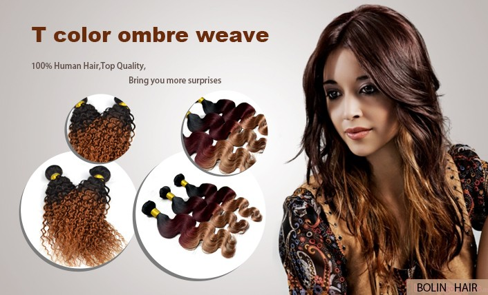 1B/613 Ombre Blonde Brazilian Hair Extensions Two Tone Ombre Brazilian Straight Human Hair Weave Fast Shipping