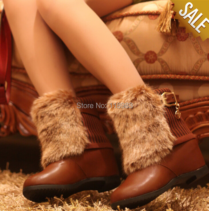 2014 New Womens fashion buckle Boots Buckle Fringe Women Snow Warm Casual Ladies Sweater Winter Shoes s - Online Store 118983 store
